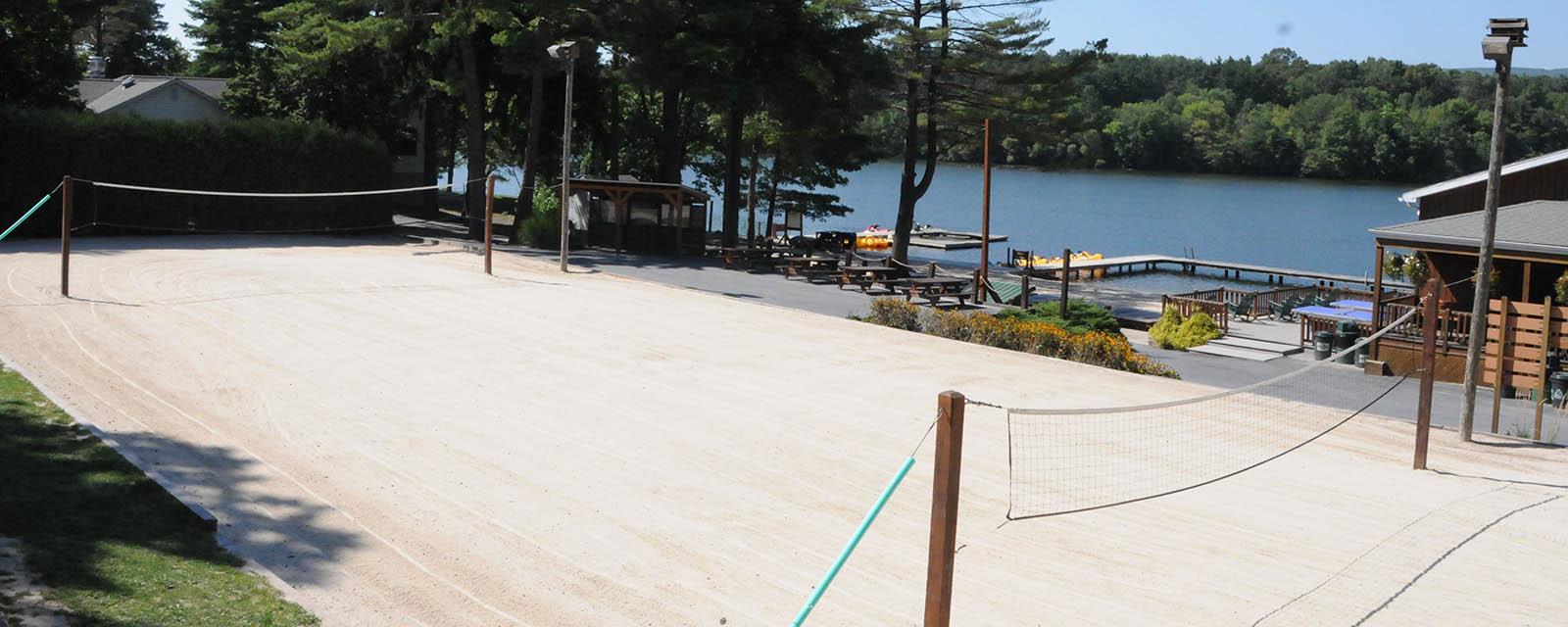 beach volleyball course