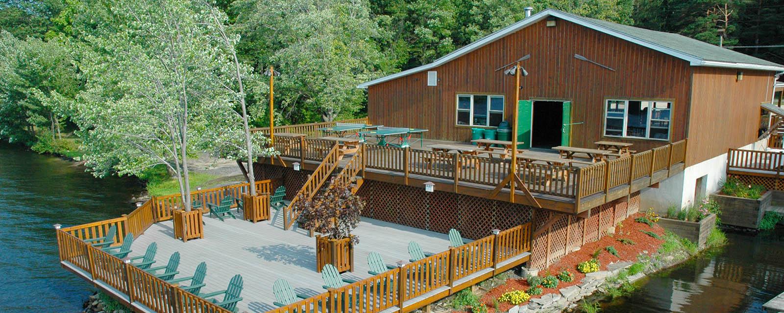 boathouse at Trout Lake Resorts