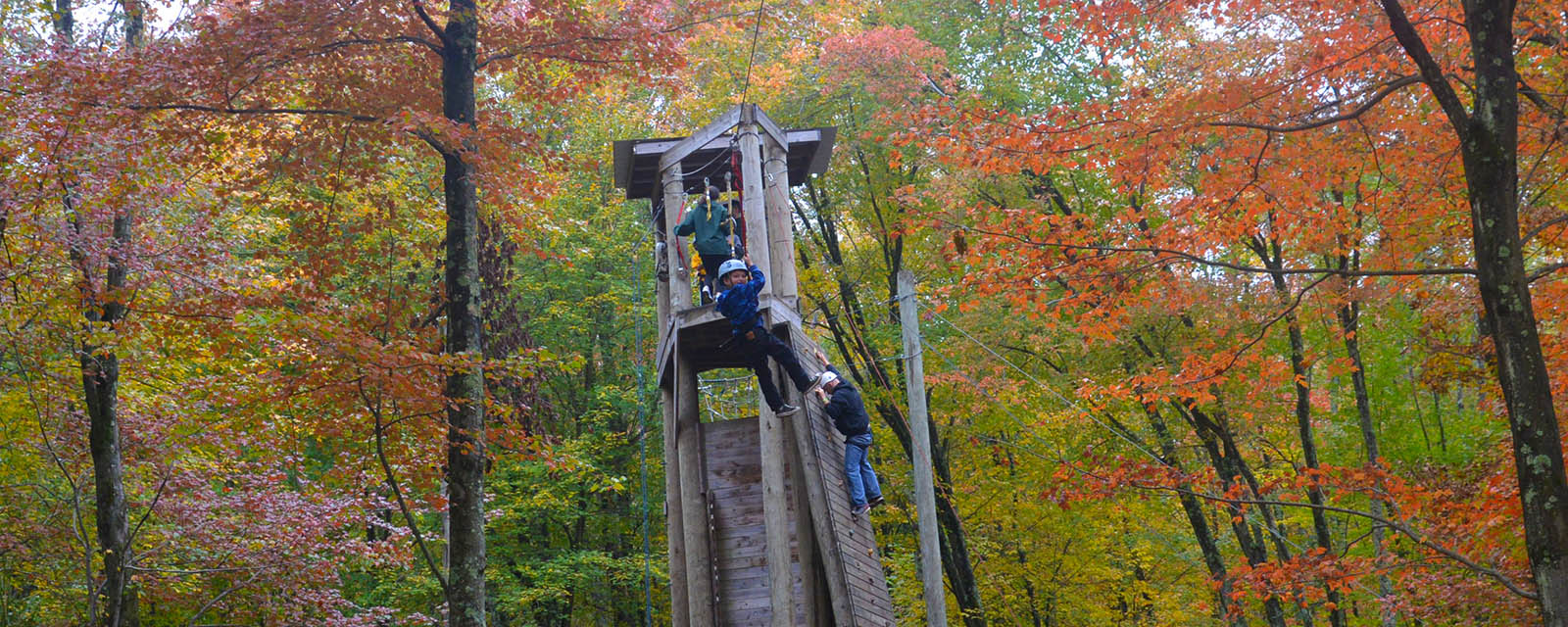 high ropes course at Trout Lake Retreats