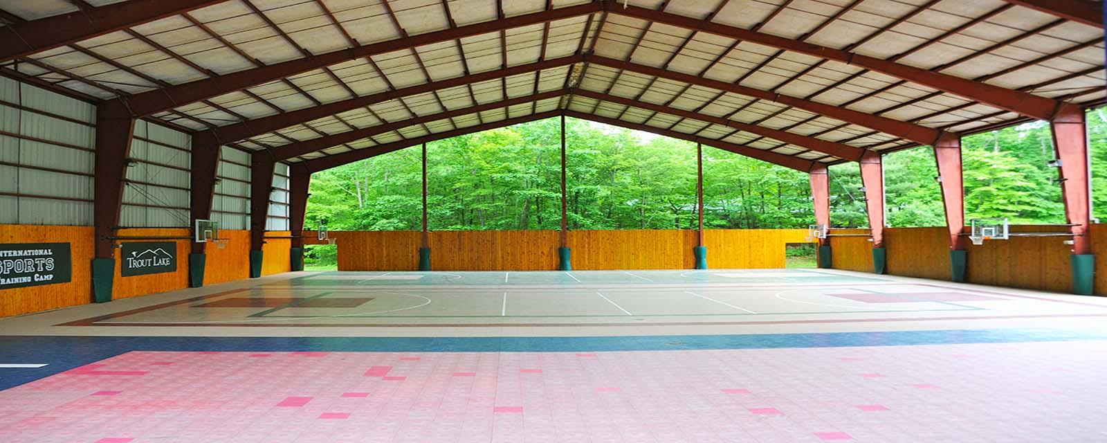 basketball court at Trout Lake Retreats